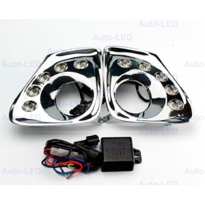Дневные ходовые огни DRL Auto-LED для Toyota Corolla 2011 v2 chrom
