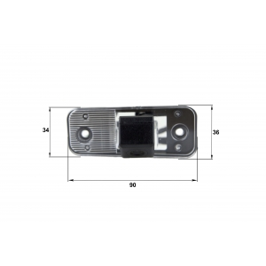 Камера заднего вида Hyundai New SantaFe (Falcon SC35HCCD-170)