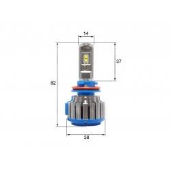 Светодиодная LED лампа Sho-Me G1.5 H11 (2шт)