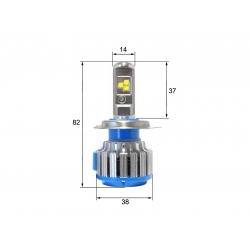 Светодиодная LED лампа Sho-Me G1.5 H4 (ближний-дальний) (2шт)