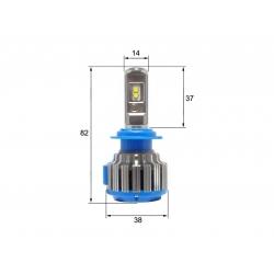 Светодиодная LED лампа Sho-Me G1.5 H7 (2шт)