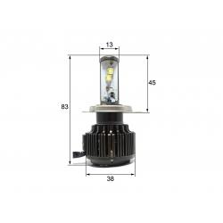 Светодиодная LED лампа Sho-Me G1.1 H4 (ближний-дальний) (2шт)