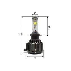 Светодиодная LED лампа Sho-Me G1.1 H7 (2шт)