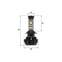 Светодиодная LED лампа Sho-Me G1.4 H7 (2шт)