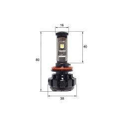 Светодиодная LED лампа Sho-Me G1.4 H11 (2шт)