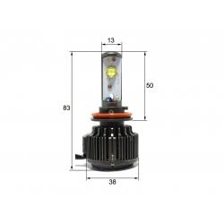 Светодиодная LED лампа Sho-Me G1.1 H11 (2шт)